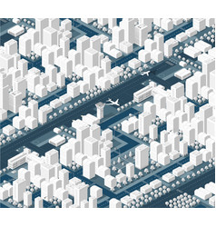 The isometric city with skyscraper vector