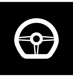 The steering wheel icon Auto symbol Flat vector image