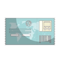Ticket travel isolated icon vector