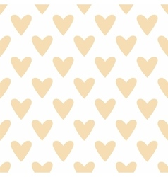 Tile pastel pattern hearts on white background vector