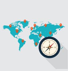 Travel around world concept flat design vector
