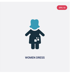two color women dress icon from people concept vector image