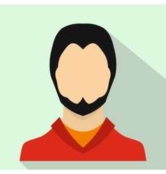 User icon flat style vector