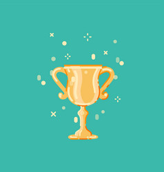 winner cup flat design vector image
