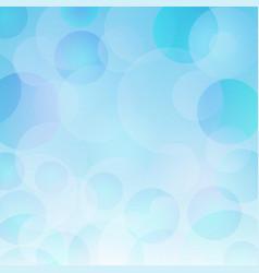 beautiful abstract blue bokeh light backrgound vector image vector image
