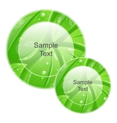 Eco Friendly Icons for web Design Leaves Texture vector image vector image