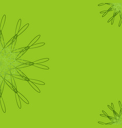 Green abstract geometric floral background vector