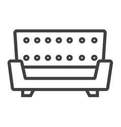 sofa line icon furniture and interior vector image