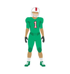 american football player in uniform and helmet vector image