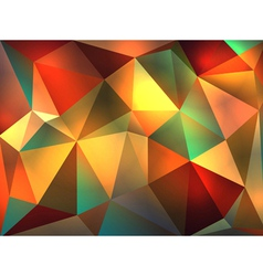 Colorful Stained Glass Abstract Triangles vector image