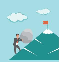 effort business concept vector image