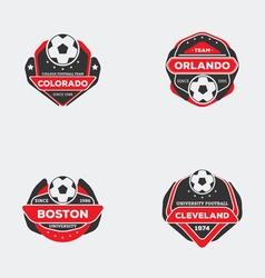 Flat football emblem vector image vector image