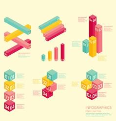 Modern soft color graph Design vector image