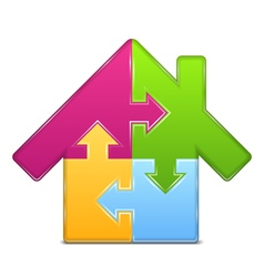 Puzzle house icon vector image