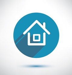 house icon in flat style vector image vector image
