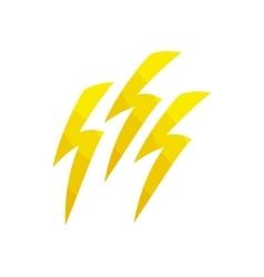 Lightning icon cartoon style vector image