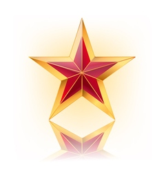 red star with gold vector image vector image