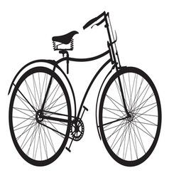 Retro bike4 resize vector image