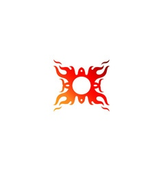 Stylized fire ornament vector image