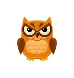 Angry brown owl vector
