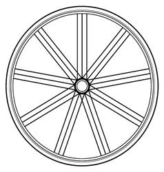 bike wheel isolated on white vector image