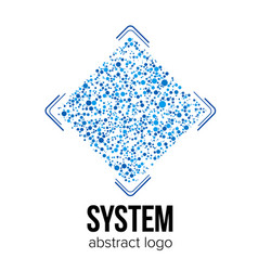 logo template for it company or science project vector image vector image