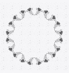 rustic emblem leaves plants icon vector image