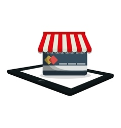 shopping online e-commerce payment digital vector image
