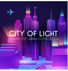 3d city concept urban background with vector image