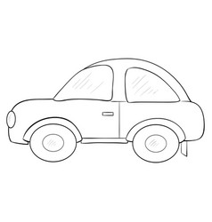A children coloring bookpage a cartoon car image vector