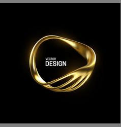 Abstract golden organic shape vector