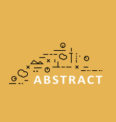 abstract style background with modern composition vector image