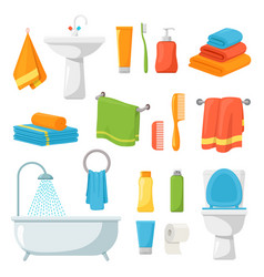 Bathroom accessories spa hygiene product sink vector