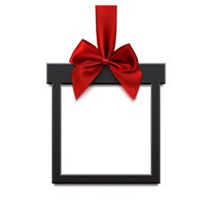 blank black square banner in form christmas vector image