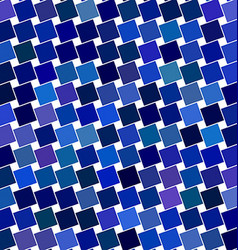 Blue angular square pattern design background vector