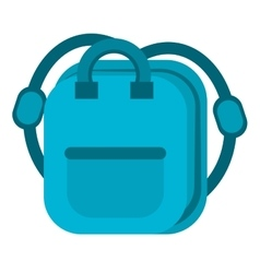 Blue bag school pupil vector