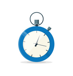 blue stopwatch clock watch vector image