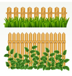 border with fence and grass green can be repeated vector image