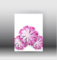 brochure design background flyerfloral poster and vector image