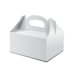 Cake box for fast food gift etc carry vector