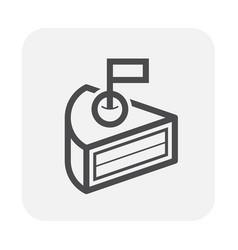 cake icon black vector image