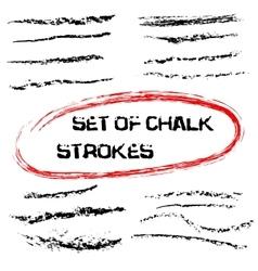 chalk lines Chalk hand drawn strokes vector image