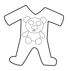 Children romper suit icon isometric 3d style vector