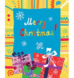 Christmas presents card vector image