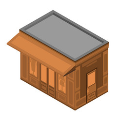 clothes street shop icon isometric style vector image