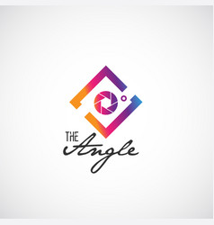 Colorful angle photography logo vector