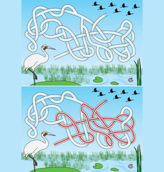 Crane maze vector