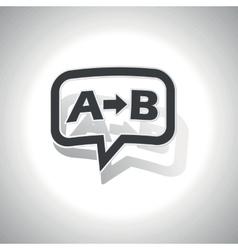 Curved A B message icon vector