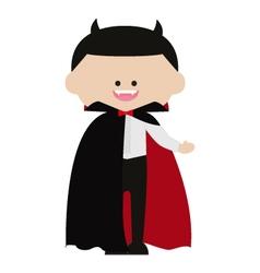 Cute dracula vampire vector