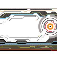 digital future style radiate vector image